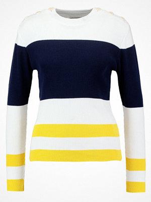 Loreak Mendian GONDO Stickad tröja navy/yellow/ecru