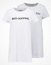 Even&Odd SLEEPY 2 PACK Nattlinne light grey melange/white