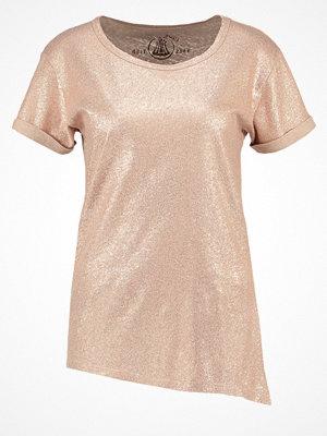 Herrlicher CAYA Tshirt med tryck bronze