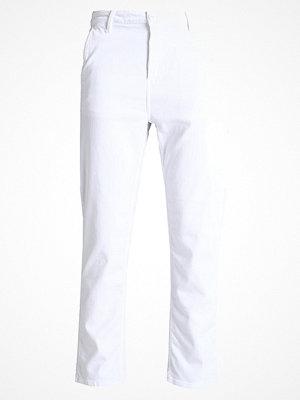 Carhartt WIP PIERCE Tygbyxor white rinsed vita