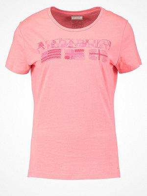 Napapijri SHALVEY Tshirt med tryck neon pink