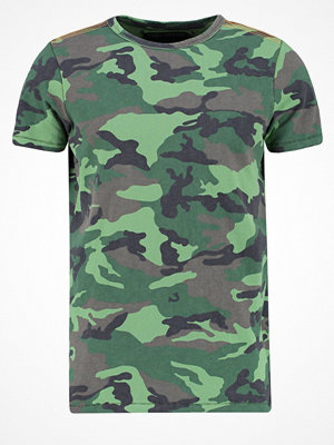 True Religion Tshirt med tryck camo dusty olive