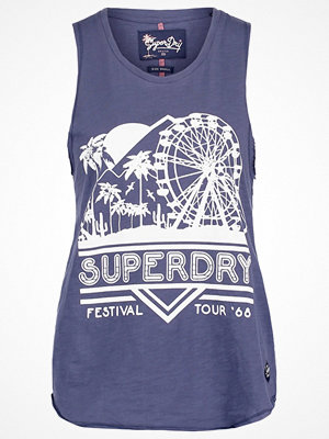 Superdry BEACH Linne sea washed blue