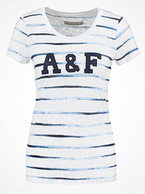 Abercrombie & Fitch Tshirt med tryck white/blue
