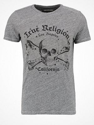 True Religion SKULL Tshirt med tryck dark marl