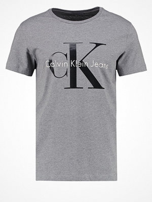 Calvin Klein Jeans REGULAR FIT Tshirt med tryck mid grey heather