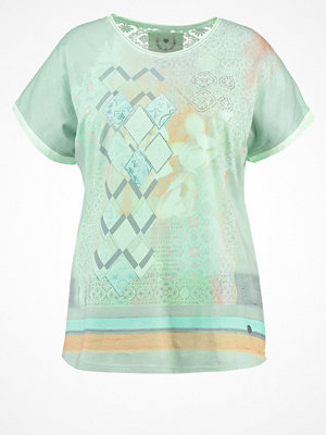 Open End Tshirt med tryck jade