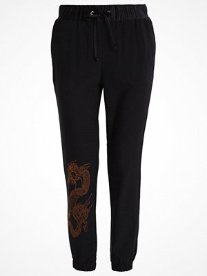 Missguided SNAKE Tygbyxor black