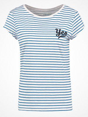 TWINTIP YES Tshirt med tryck beige/blue