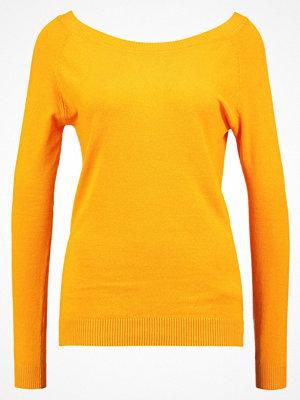 Vila VINOURI Stickad tröja cadmium yellow