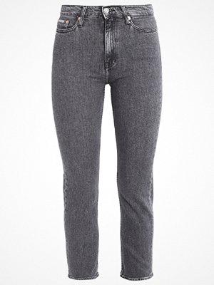 Calvin Klein Jeans HIGH RISE STRAIGHT ANKLE Jeans straight leg vintage black