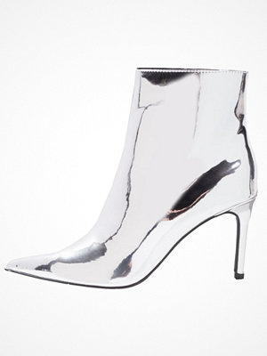 Boots & kängor - Topshop MIMOSA SLIM  Ankelboots silver
