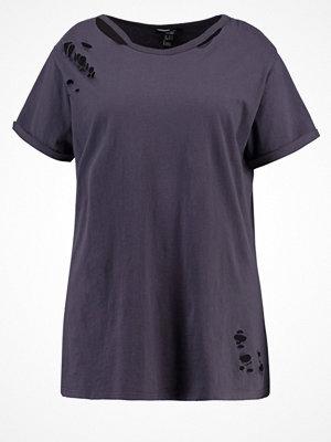 New Look Curves Tshirt med tryck dark grey