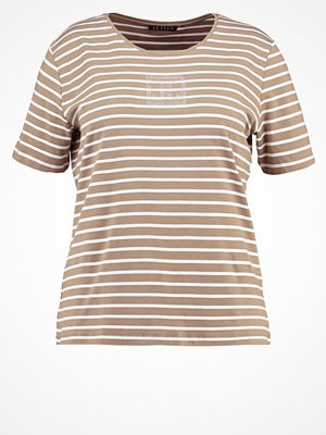 JETTE Tshirt med tryck olive/real white