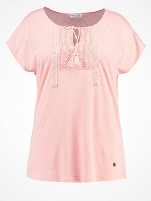 Open End Tshirt med tryck vintage rose