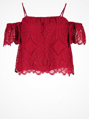 Abercrombie & Fitch Blus red