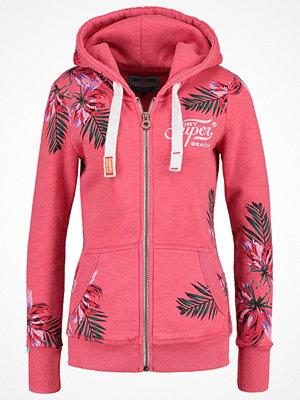 Superdry SUPER BEACH Sweatshirt overdyed fluro pink