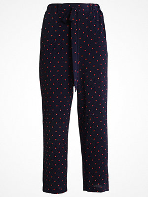 Anna Field Tygbyxor navy/red prickiga