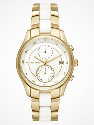 Michael Kors BRIAR Kronografklockor goldcoloured/white