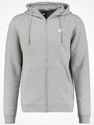 Street & luvtröjor - Nike Sportswear CLUB Sweatshirt dark grey heather/white