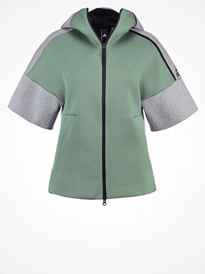 Adidas Performance Sweatshirt trace green/medium grey heather