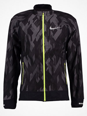 Sportkläder - Nike Performance TRAIL Löparjacka black/black/volt