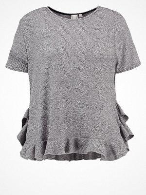 Lost Ink Plus Tshirt med tryck grey