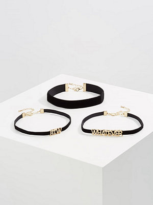 Smycken - Only ONLTILA 3 PACK Halsband black