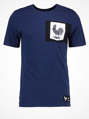 Sportkläder - Nike Performance FRANKREICH Tshirt med tryck midnight navy/white