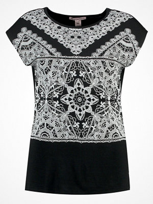 Anna Field Tshirt med tryck black/white
