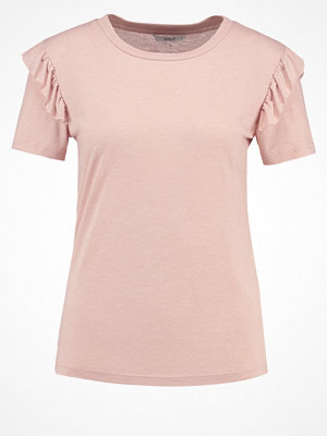 Only ONLBIBBI Tshirt med tryck pale mauve