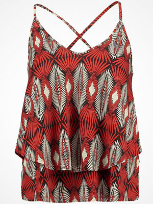 Anna Field Linne printed black/red