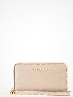 Plånböcker - MICHAEL Michael Kors JET SET TRAVEL  Plånbok pale gold