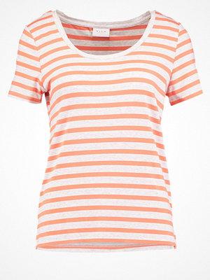 Vila VICOLLECT Tshirt med tryck super light grey/persimmon