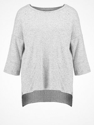 Only ONLTALIA Stickad tröja light grey melange