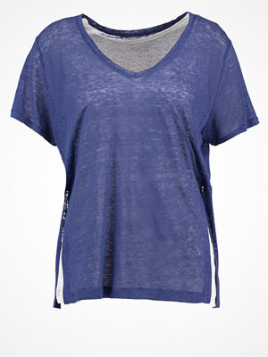 Majestic Tshirt med tryck indigo blue