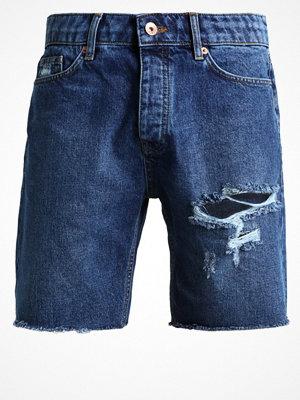 Topman Jeansshorts dark blue