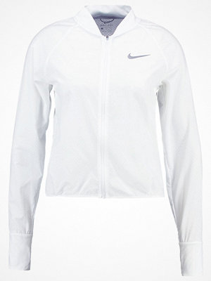 Nike Performance CITY Löparjacka white/reflective silver