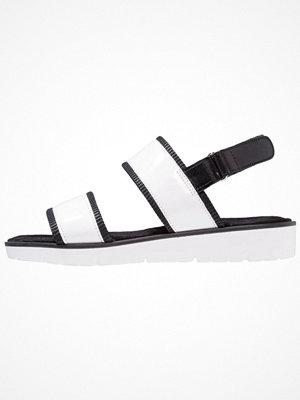 Tamaris Sandaletter med kilklack white/black