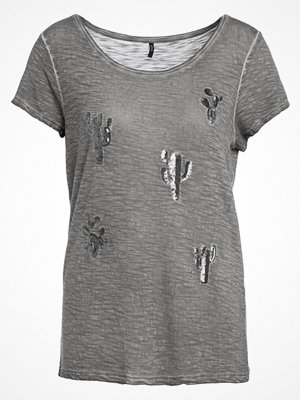 Only ONLVIGGO CACTUS Tshirt med tryck smoked pearl