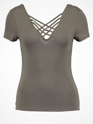 Miss Selfridge Tshirt med tryck dark green