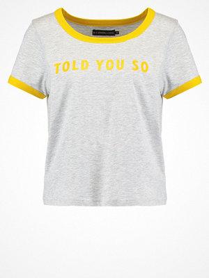 Even&Odd Tshirt med tryck grey melange