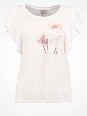 Vero Moda VMLIFE Tshirt med tryck snow white/oatmeal
