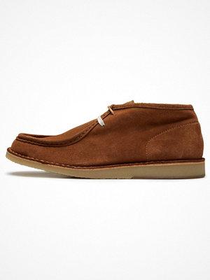 Boots & kängor - Selected Homme Snörstövletter brown