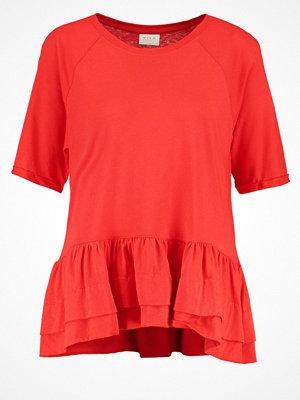 Vila VIMARISA Tshirt med tryck flame scarlet