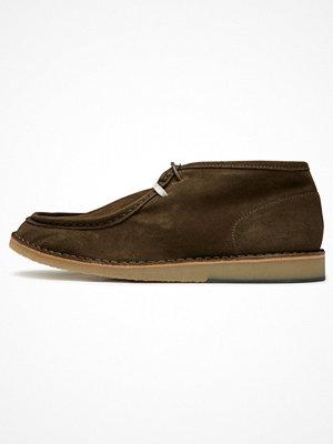 Boots & kängor - Selected Homme Snörstövletter green olive