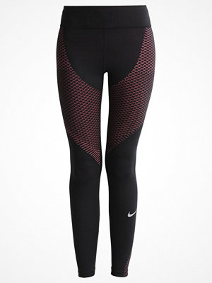 Sportkläder - Nike Performance Tights black/racer pink/reflective silver