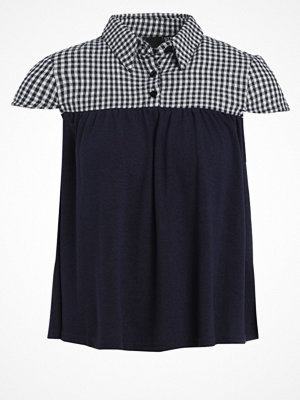 Lost Ink THE BELLA GINGHAM Tshirt med tryck navy