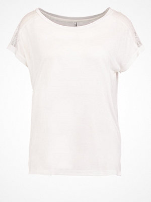 Only ONLALESSA Tshirt med tryck cloud dancer