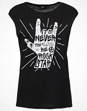 Only ONLHARD ROCK WELL Tshirt med tryck black